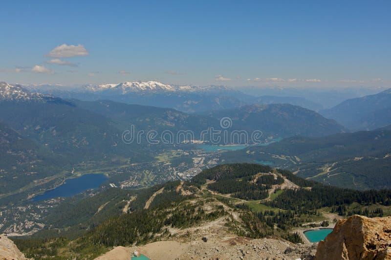 bc whistler för sikt för Kanada bergsommar arkivfoton