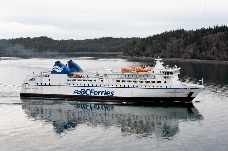 BCFerries passenger ferry enters harbor