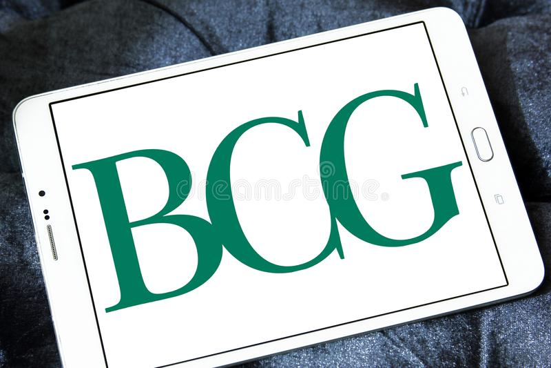 BCG, logotipo de Boston Consulting Group foto de archivo libre de regalías