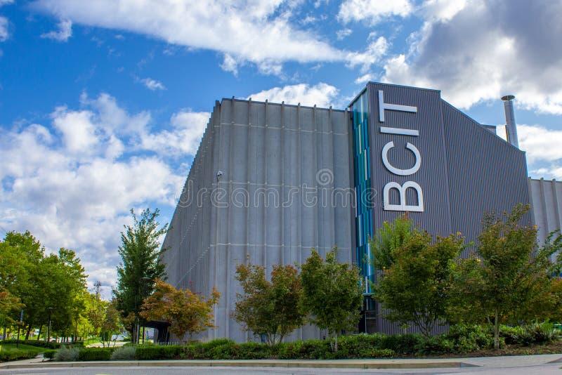 BCIT不列颠哥伦比亚理工学院签字 库存图片