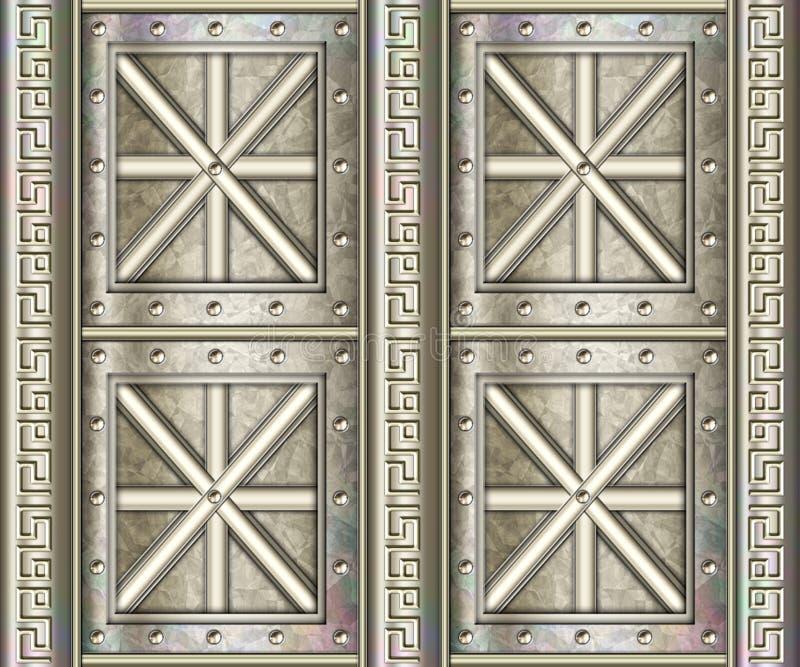 Bckgrnd altamente detalhado do metal ilustração royalty free