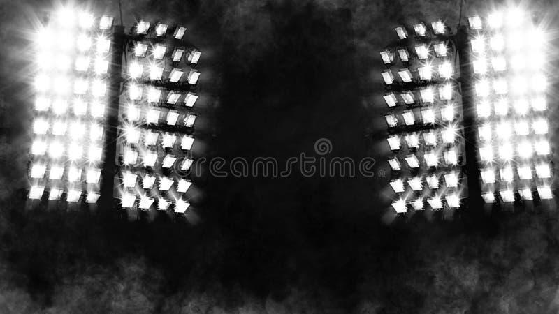 BClose upp av en strålkastare Gör suddig effekt för röksnötextur royaltyfri foto