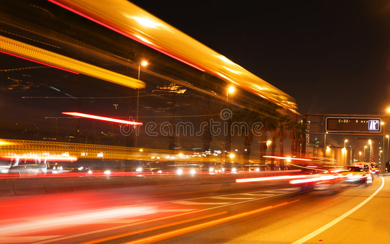 bcn ruch drogowy obrazy stock