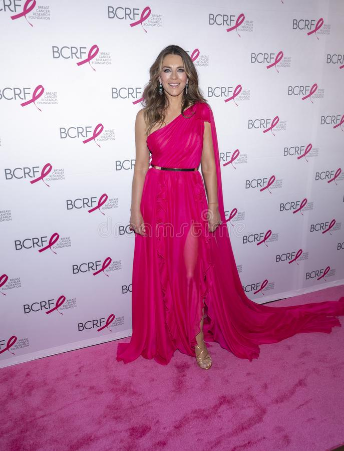 BCRF 2019 Hot Pink Party arrivals. New York, NY, USA - May 15, 2019: Elizabeth Hurley attends the Breast Cancer Research Foundation 2019 Hot Pink Party at Park stock photography