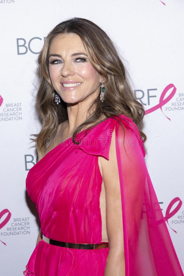 BCRF 2019 Hot Pink Party arrivals. New York, NY, USA - May 15, 2019: Elizabeth Hurley attends the Breast Cancer Research Foundation 2019 Hot Pink Party at Park stock image