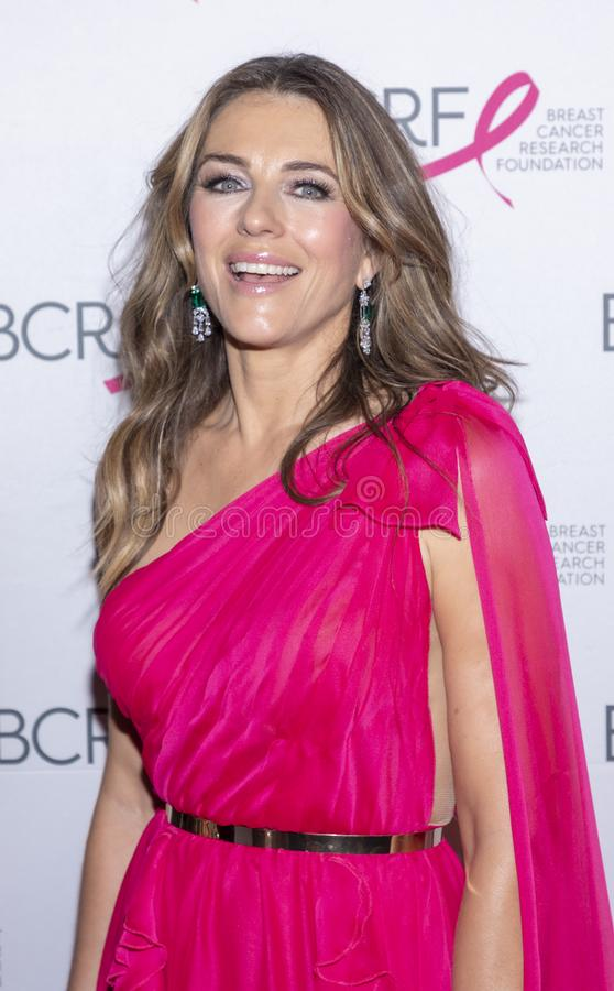 BCRF 2019 Hot Pink Party arrivals. New York, NY, USA - May 15, 2019: Elizabeth Hurley attends the Breast Cancer Research Foundation 2019 Hot Pink Party at Park royalty free stock photography