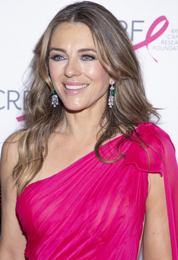 BCRF 2019 Hot Pink Party arrivals. New York, NY, USA - May 15, 2019: Elizabeth Hurley attends the Breast Cancer Research Foundation 2019 Hot Pink Party at Park stock photos
