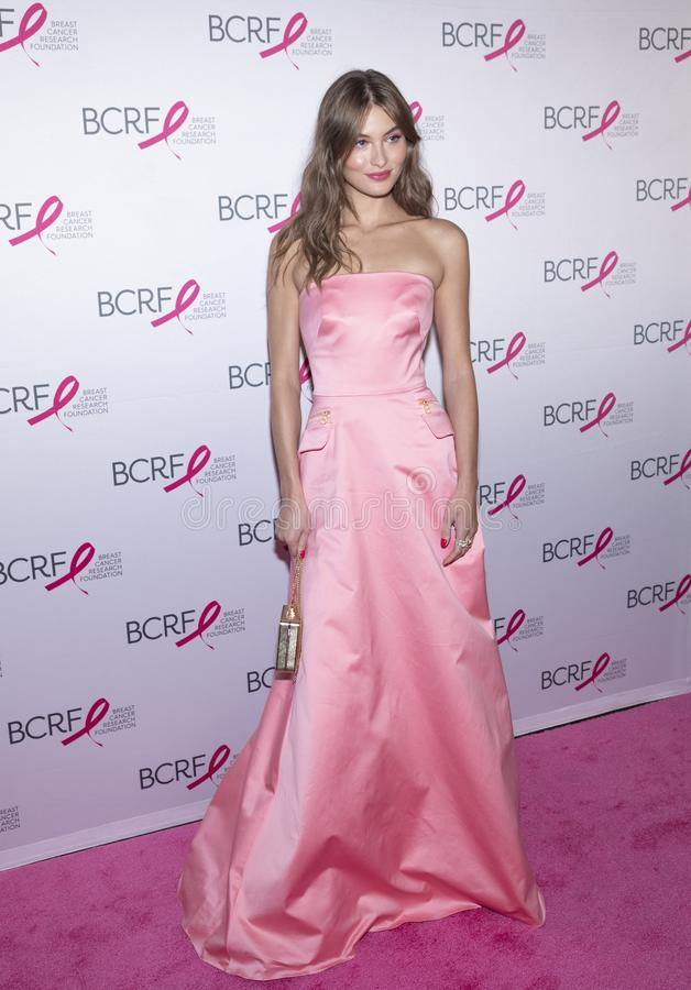 BCRF 2019 Hot Pink Party arrivals. New York, NY, USA - May 15, 2019: Grace Elizabeth attends the Breast Cancer Research Foundation 2019 Hot Pink Party at Park stock photo