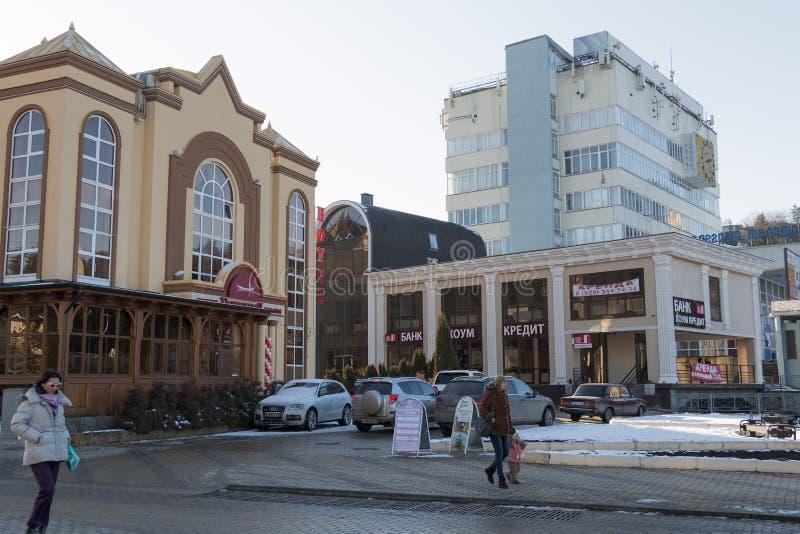 Bd. de Kurortny à station touristique de Kislovodsk (Russie) images stock