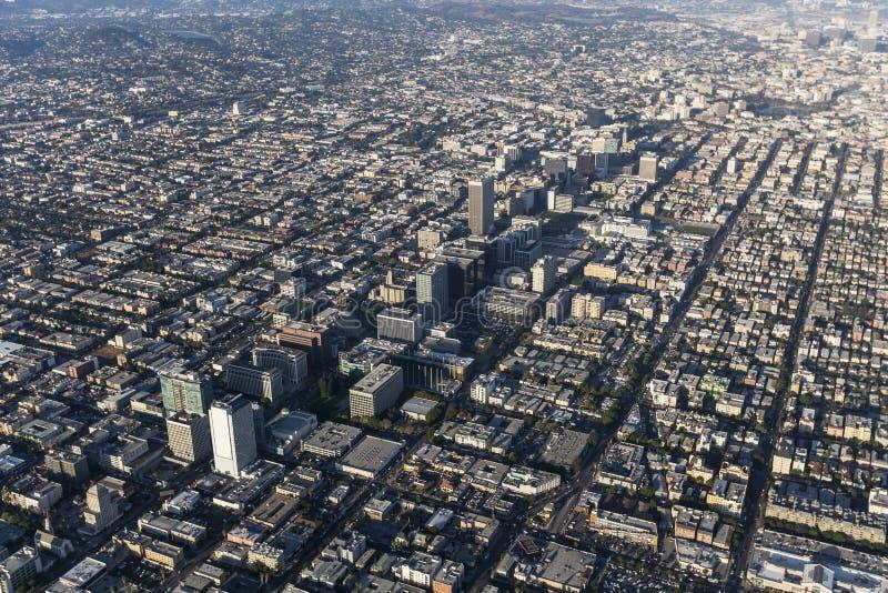 Bd. de Los Angeles Wilshire et vue aérienne de Koretown photo libre de droits