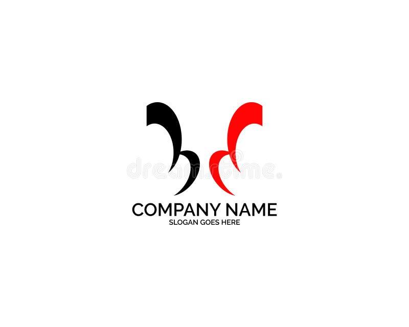 BD Logo Letter Design Template Element lizenzfreie abbildung