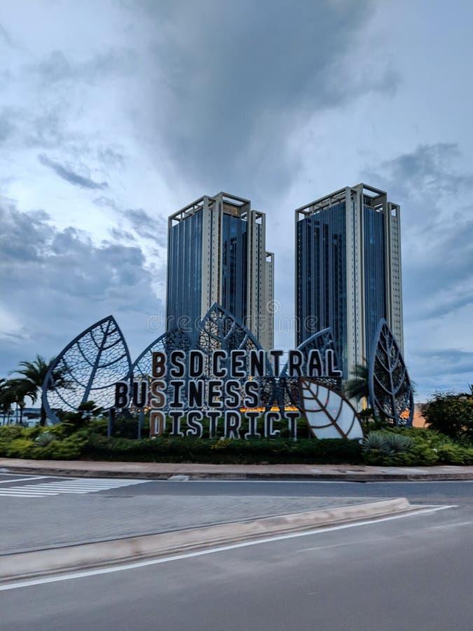 Bd-Stadt in Tangerang stockfotos