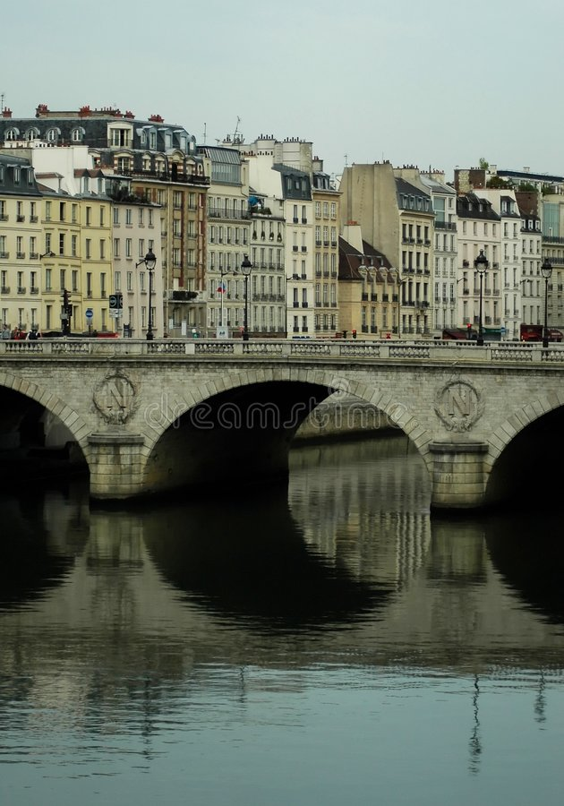 Bdrige in paris royalty free stock images