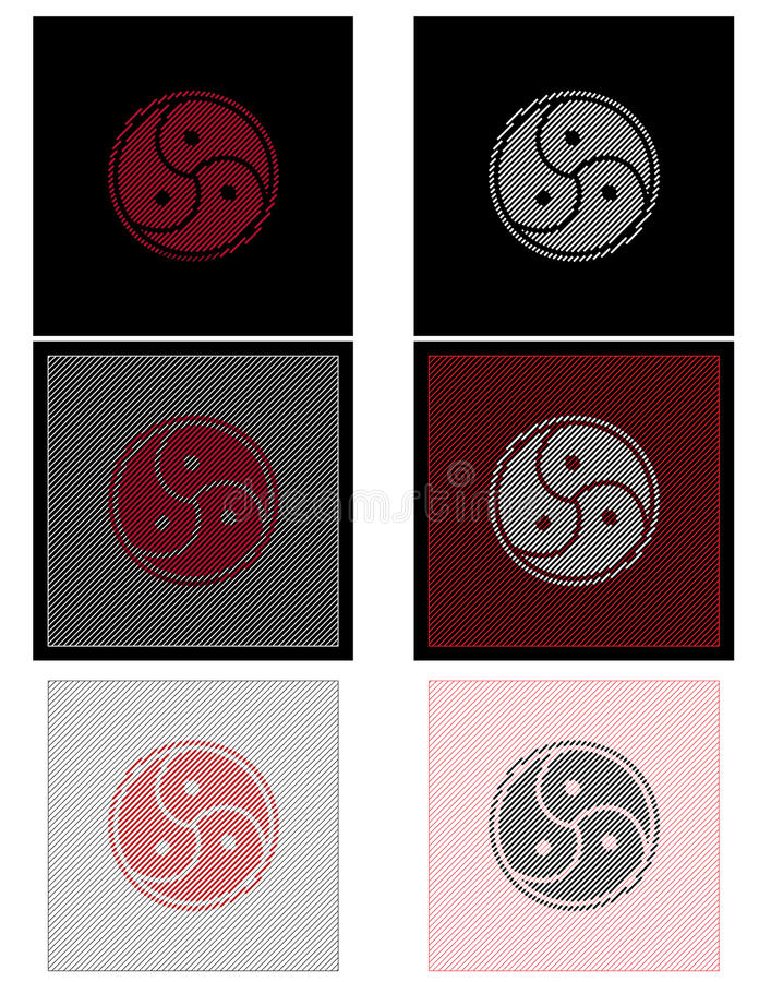 Bdsm sign hatch royalty free illustration