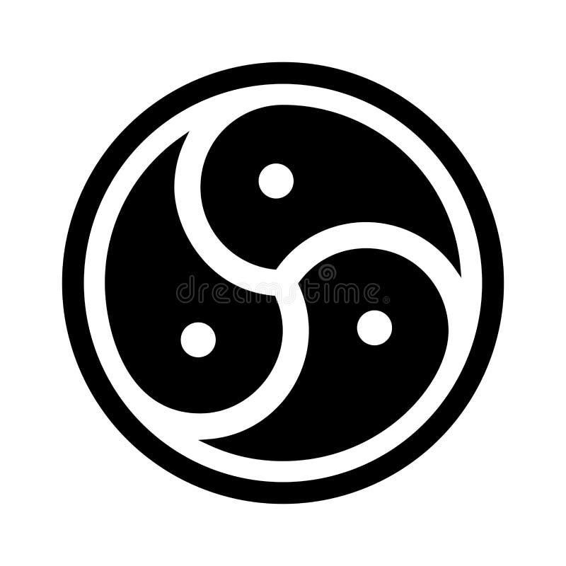 BDSM symbolu ilustracja ilustracja wektor