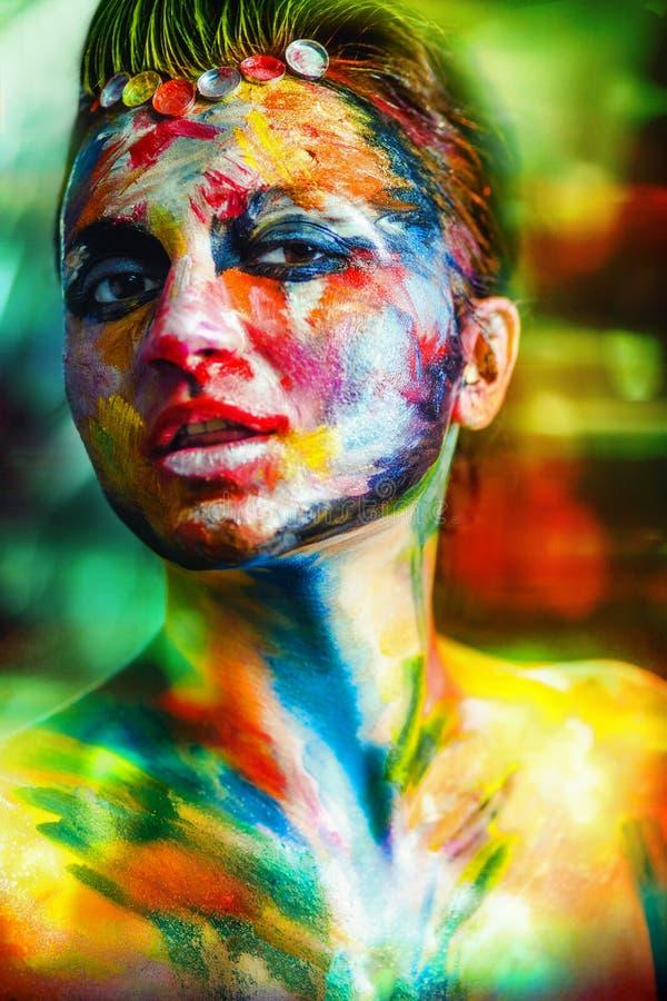 Bdy konst för kvinna royaltyfri foto