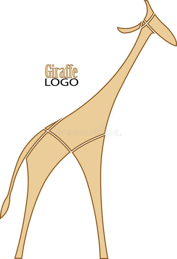 Beż obrazkowa żyrafa logo ilustracja wektor
