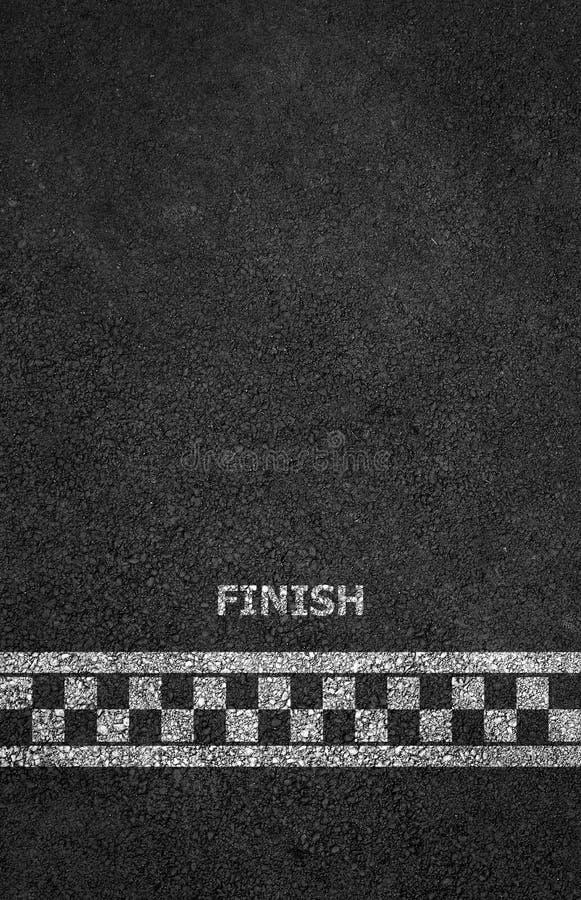 Beëindig lijn het rennen achtergrond stock illustratie