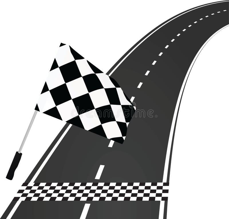 Beëindig lijn met vlag vector illustratie