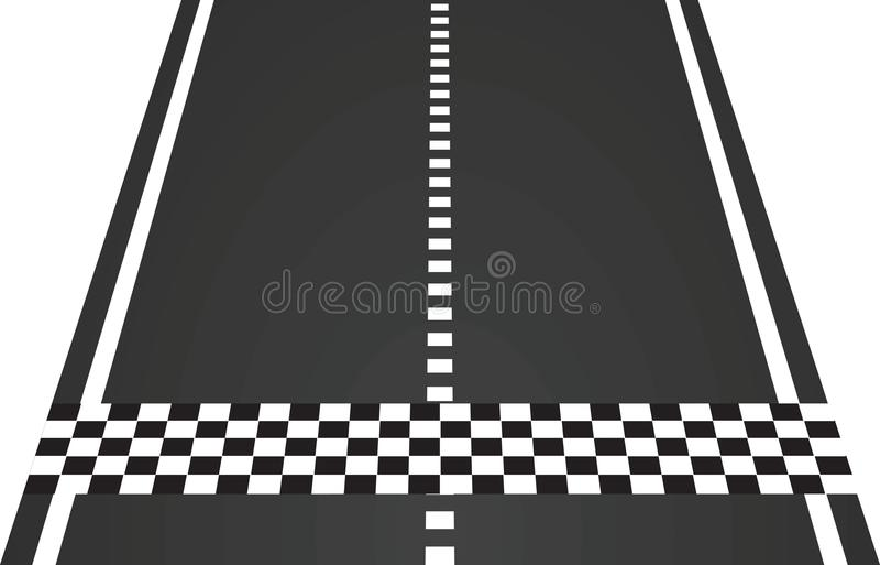Beëindig lijn op de weg vector illustratie