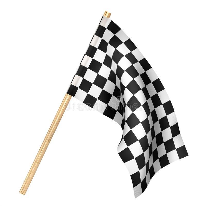 Beëindig vlag op een wit wordt geïsoleerd dat 3D Illustratie vector illustratie