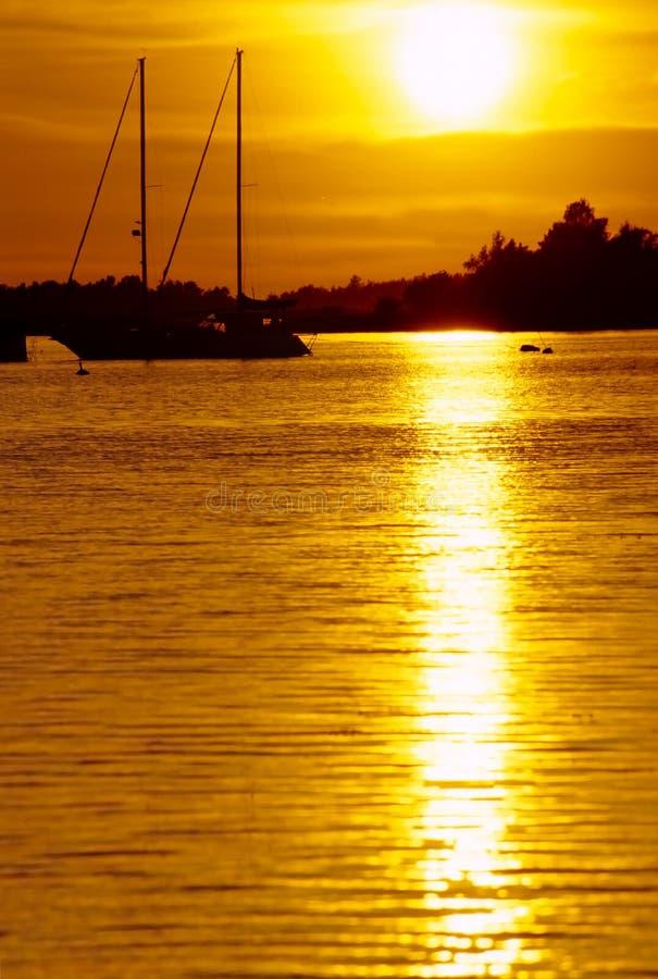 Beëindig zonsondergang no.2 stock afbeeldingen
