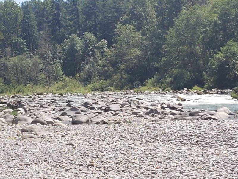 Beëindigen van Sandy River Trail royalty-vrije stock afbeelding