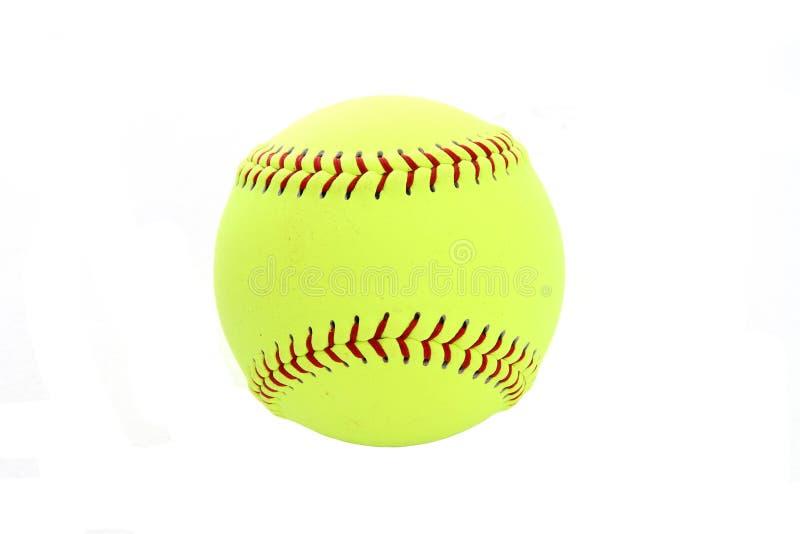 Beísbol con pelota blanda imagen de archivo