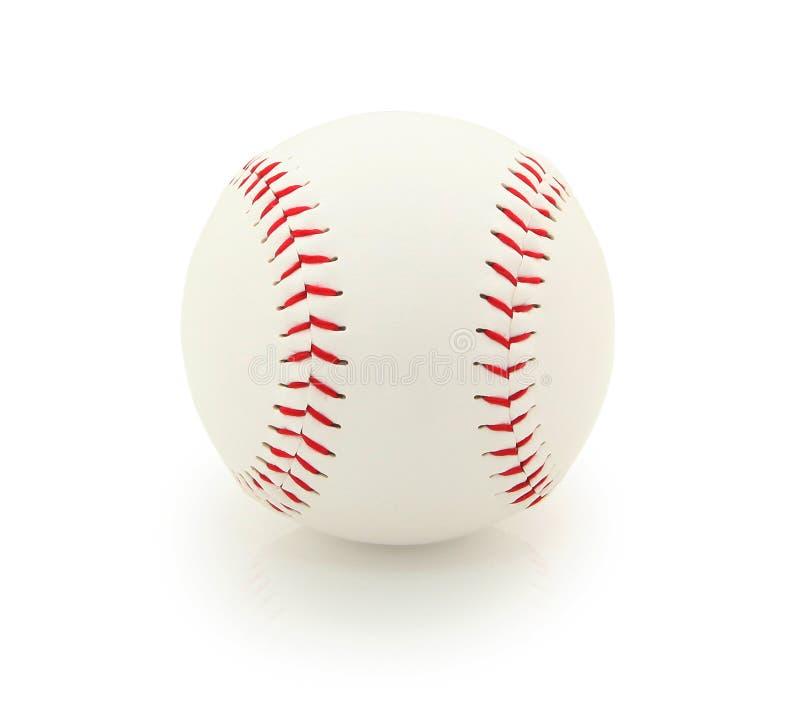 Beísbol con pelota blanda aislado imagenes de archivo