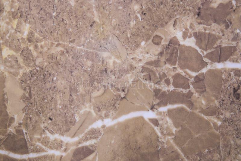 Beżowa brązu marmuru wzoru tekstura obrazy royalty free