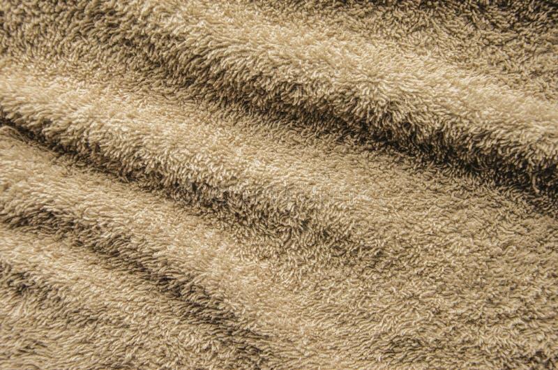 Beżowa Kąpielowego ręcznika tekstura zdjęcia stock
