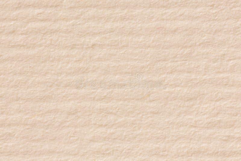 Beżowa Kraft papieru tekstura, makro- strzał zdjęcie stock