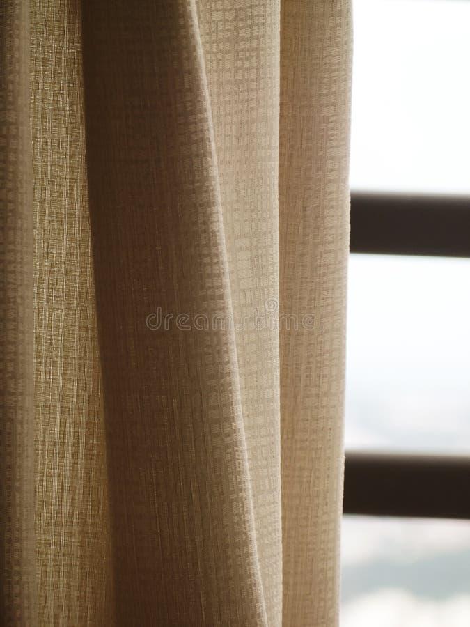 Beżowa sukienna zasłona obrazy stock