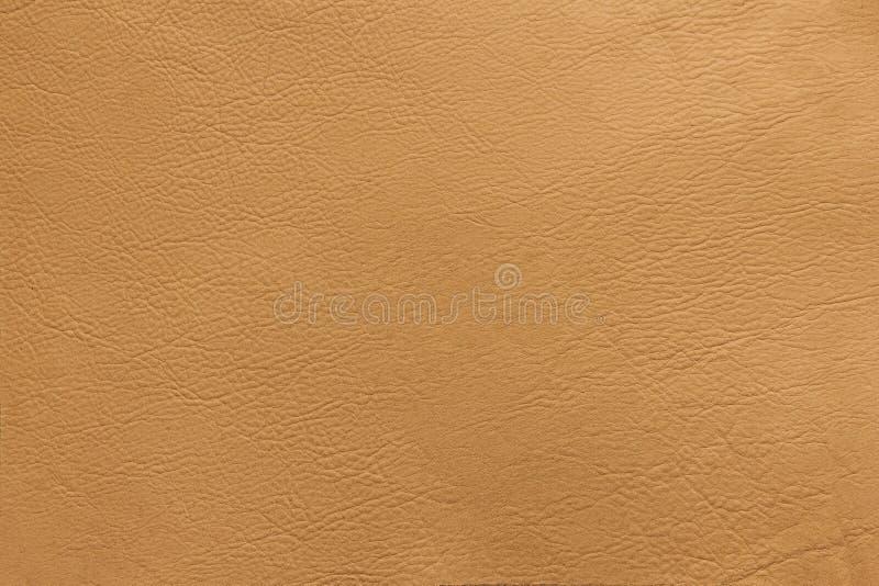 Beżowy rzemienny tekstury tła zakończenie w górę fotografii obrazy stock