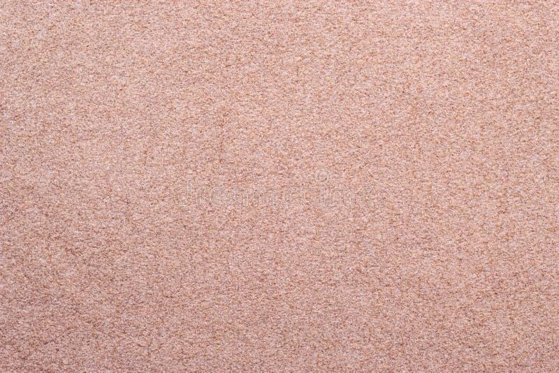 Beżowy zamszowy tekstury tło obraz stock