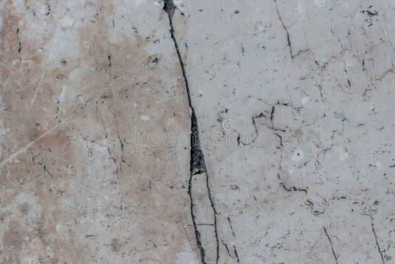 Beżu marmur z krakingowym zdjęcia stock