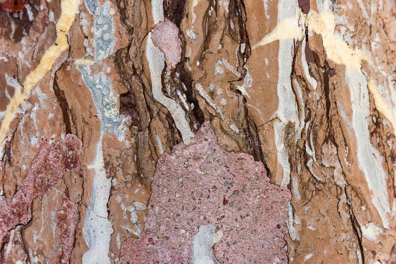 Beżu marmur z małą czerwienią pękającą tło tekstury stara ceglana ściana obrazy stock