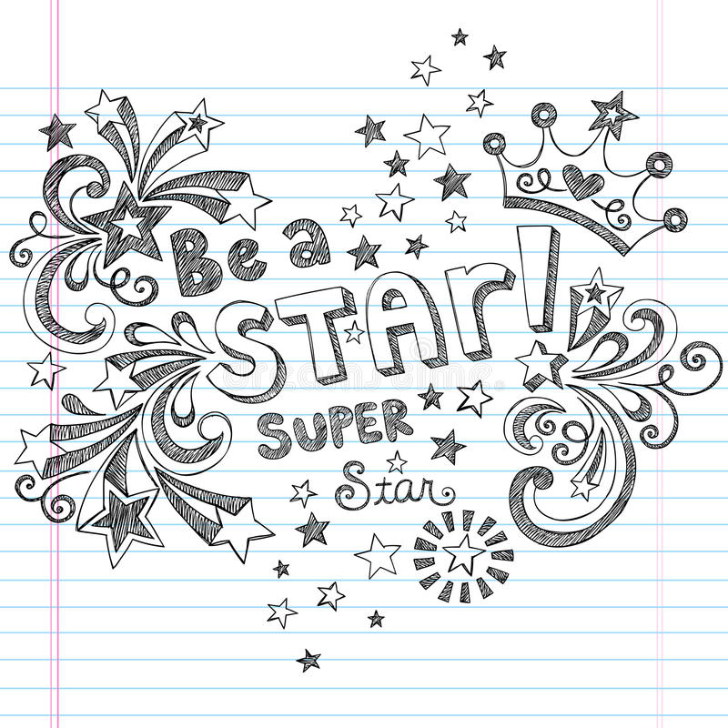 Free Be A Star Sketchy School Doodles Vector Design Royalty Free Stock Photo - 27560165