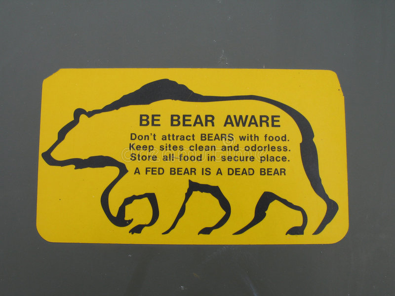 Download Be aware of bear sign stock photo. Image of wildlife, feed - 6068228