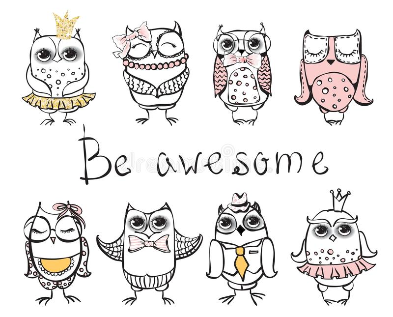 Be awesome bird,vector royalty free illustration