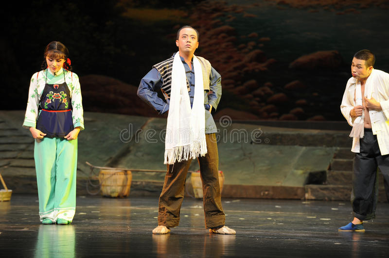 Be bloated with pride- Jiangxi opera a steelyard. Jiangxi opera a steelyard is adapted from a true story: the last century fortys, the protagonists father runs stock photos