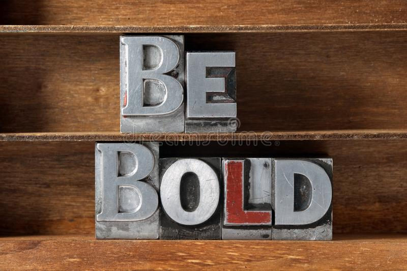 Be bold tray royalty free stock images