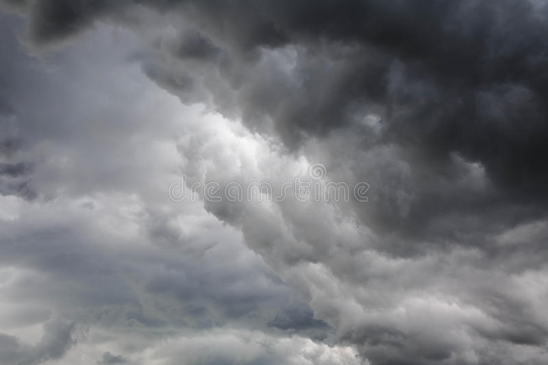 Be cloudy. A lot of cloudy nimbus sky which mean a raining is coming soon royalty free stock image