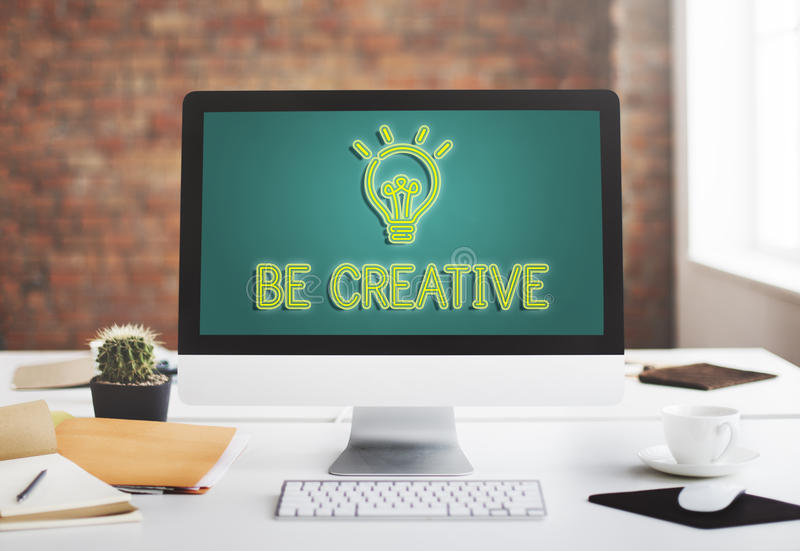 Be Creative New Imagination Innovation Graphic Concept royalty free stock photos