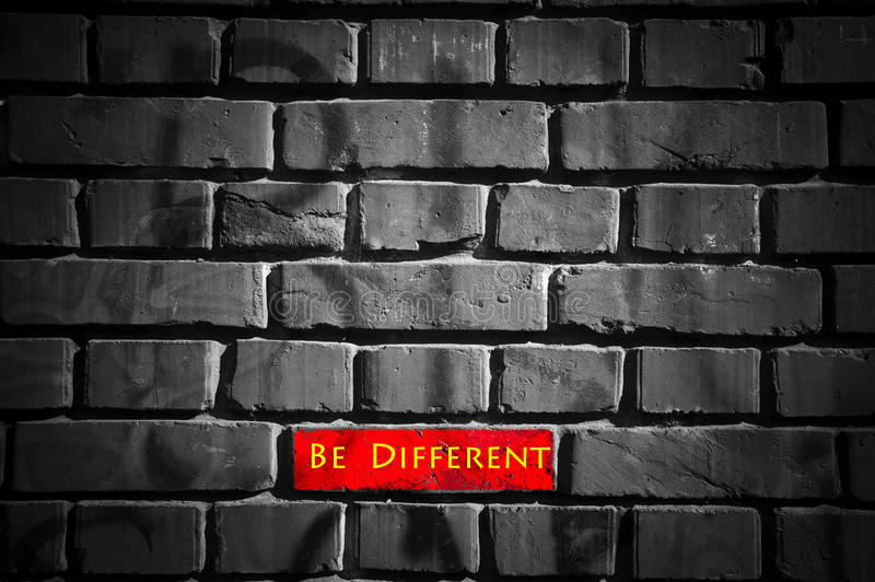 Be Different Royalty Free Stock Image