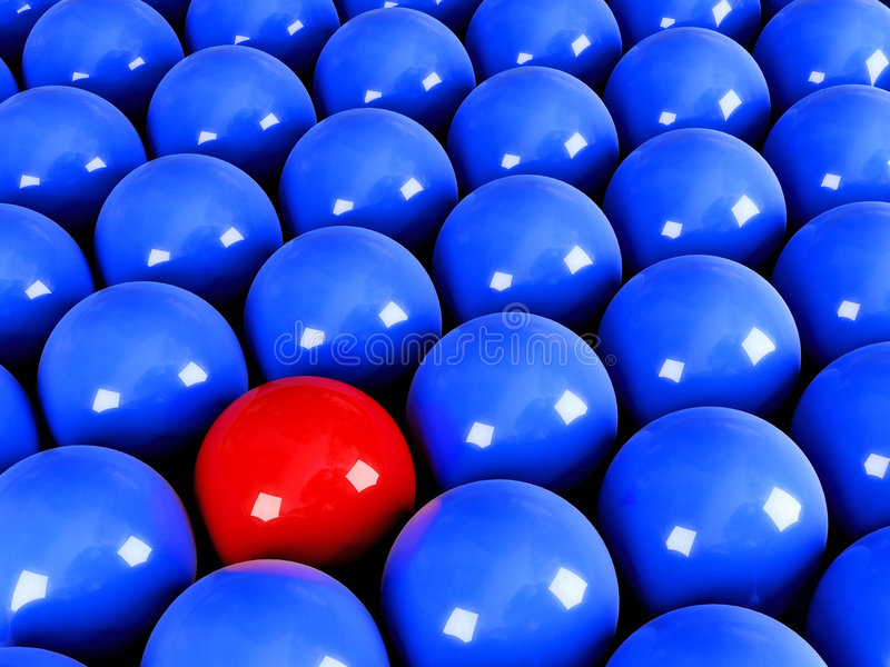 Download Be different stock illustration. Image of competition - 4486780