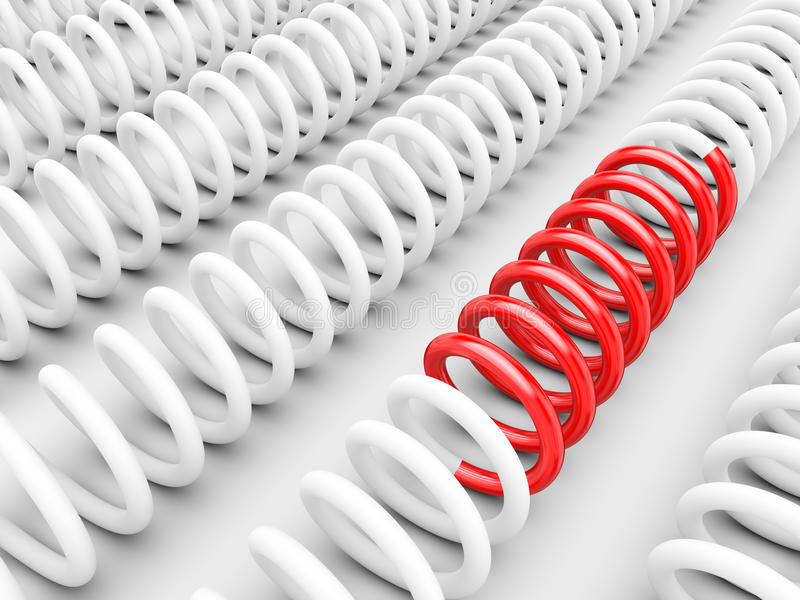 Download Be different - Springs stock illustration. Image of part - 24790369