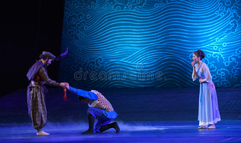 """Be entrusted with a mission at a critical and difficult moment-Dance drama """"The Dream of Maritime Silk Road"""". Dance drama """"The Dream of stock photo"""