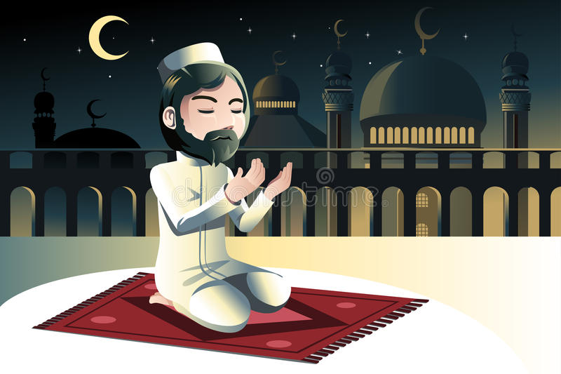 Be för Muslim vektor illustrationer