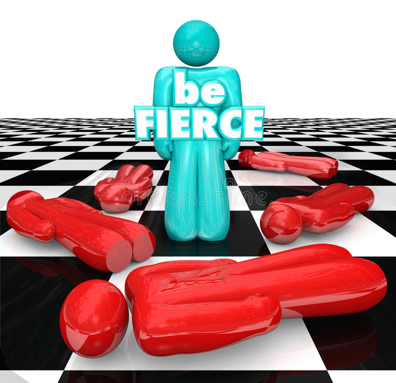 Free Be Fierce Chess Board Bold Daring Player Wins Game Stock Photography - 43319092